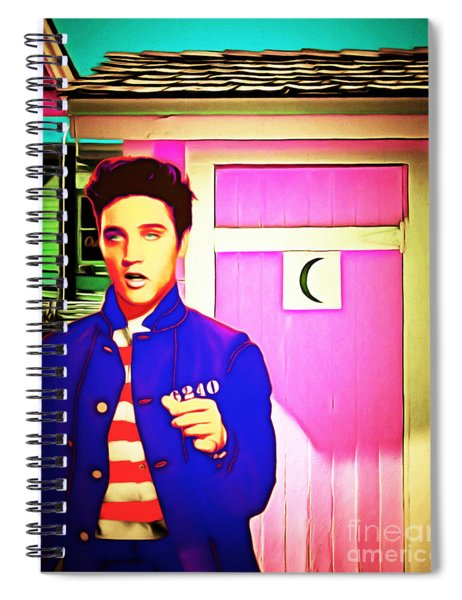 Elvis Has Left The House 20151225 Spiral Notebook
