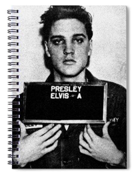 Elvis Presley Mug Shot Vertical 1 Spiral Notebook
