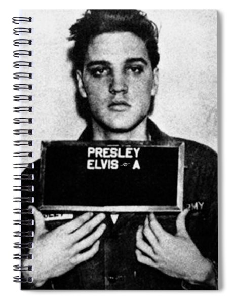 Elvis Presley Mug Shot Vertical 1 Spiral Notebook