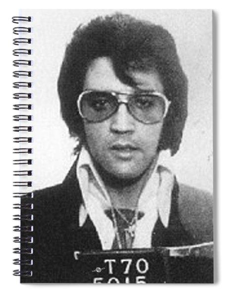 Elvis Presley Mug Shot Vertical Spiral Notebook