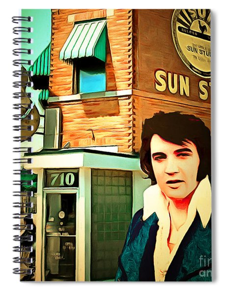 Elvis Presley The King At Sun Studio Memphis Tennessee 20160216 Square Spiral Notebook