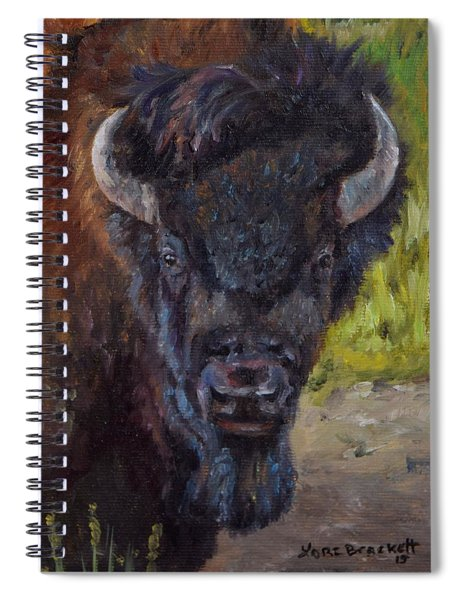 Elvis The Bison Spiral Notebook