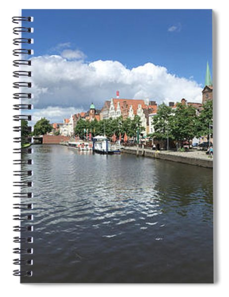 Embankment Of Trave In Luebeck Spiral Notebook