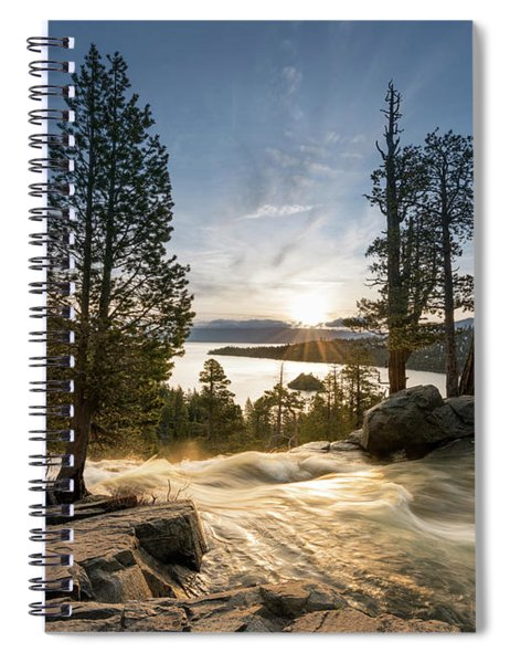 Emerald Bay On Lake Tahoe With Lower Eagle Falls Spiral Notebook