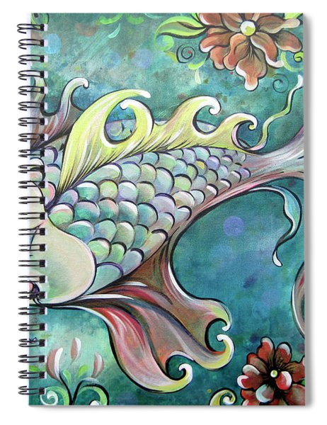 Emerald Koi Spiral Notebook