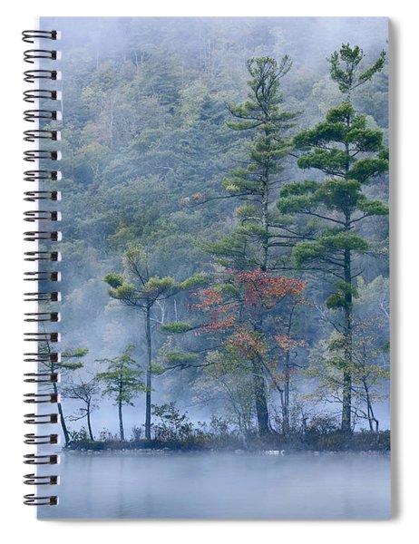 Emerald Lake In Fog Emerald Lake State Spiral Notebook