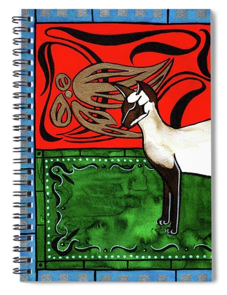 Emerald Meets Siamese Spiral Notebook