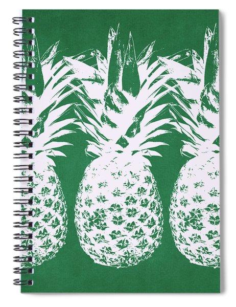 Emerald Pineapples- Art By Linda Woods Spiral Notebook