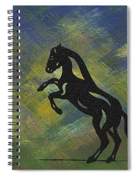 Spiral Notebook featuring the painting Emma - Abstract Horse by Manuel Sueess
