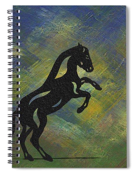 Emma II - Abstract Horse Spiral Notebook