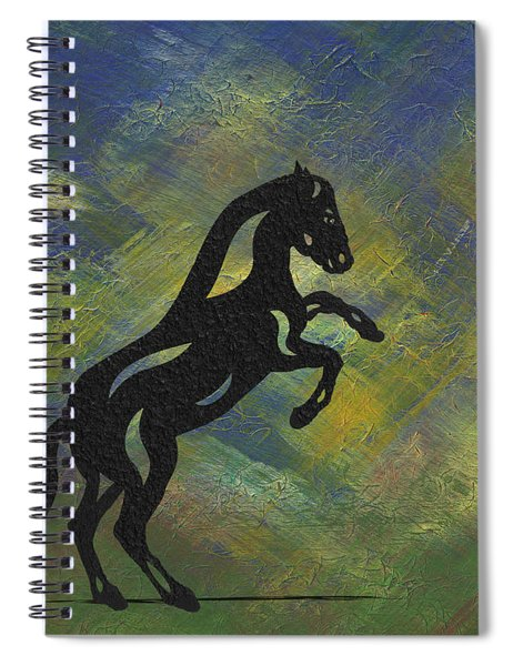 Spiral Notebook featuring the painting Emma II - Abstract Horse by Manuel Sueess