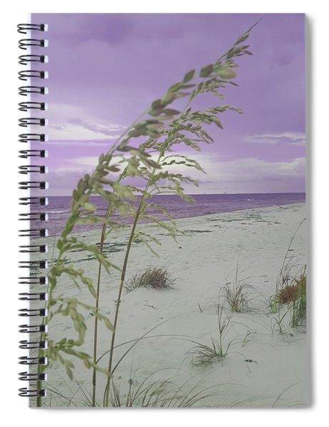 Emma Kate's Purple Beach Spiral Notebook