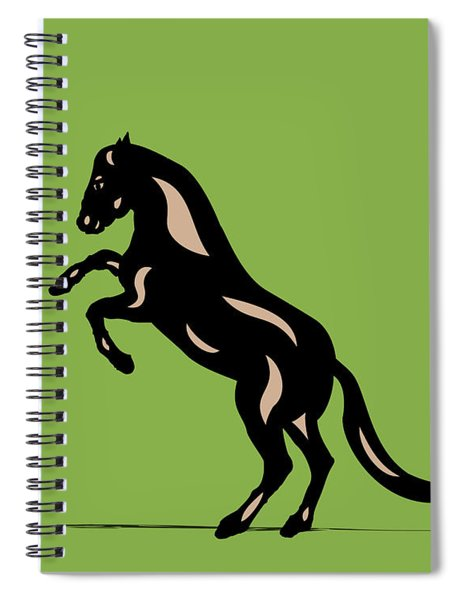 Emma - Pop Art Horse - Black, Hazelnut, Greenery Spiral Notebook