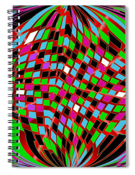Spiral Notebook featuring the digital art Emotions 2918 by Brian Gryphon