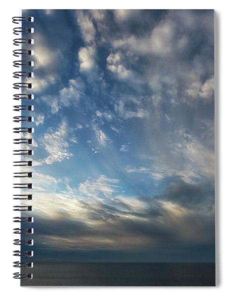 Spiral Notebook featuring the photograph Empire Bluffs 1 by Heather Kenward