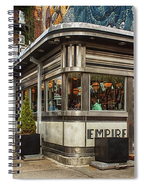 Spiral Notebook featuring the photograph Empire Diner by Alison Frank