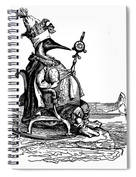 Empire Penguin Grandville Transparent Background Spiral Notebook