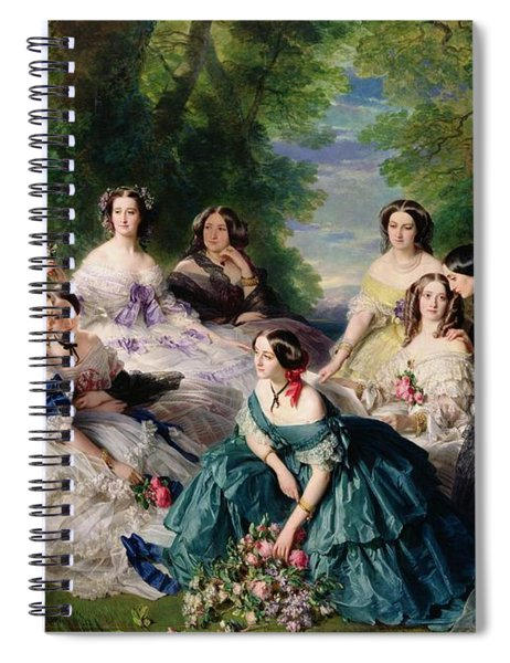 Empress Eugenie Surrounded By Her Ladies In Waiting Spiral Notebook