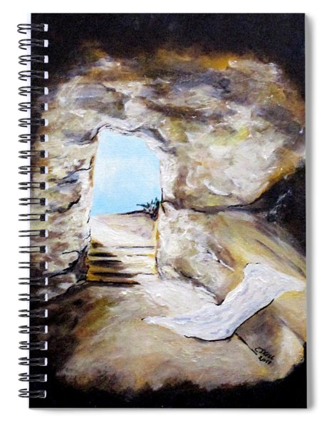Empty Burial Tomb Spiral Notebook