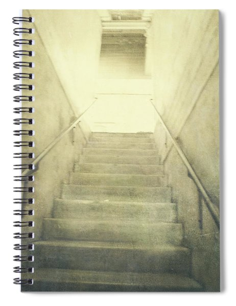 Empty Concrete Stairs To The Light Above Spiral Notebook