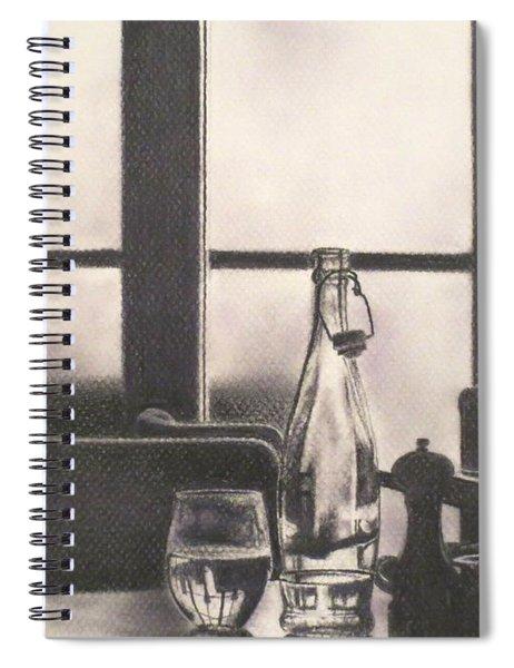 Empty Glass Spiral Notebook