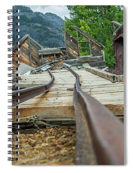 Empty Tracks Spiral Notebook