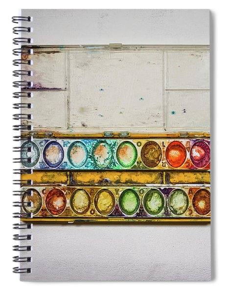 Empty Watercolor Paint Trays Spiral Notebook