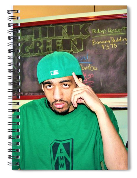 Emwot- Green At Seed Cafe Spiral Notebook