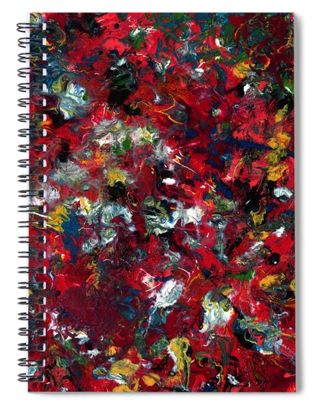 Spiral Notebook featuring the painting Enamel 1 by James W Johnson