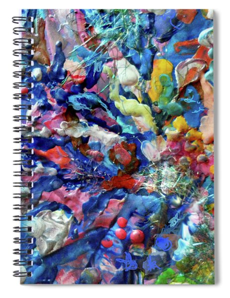 Encaustic Abstract 49 Spiral Notebook