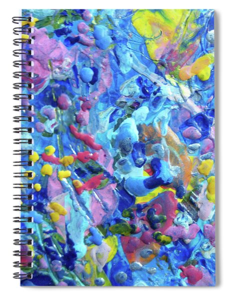 Encaustic Abstract 7 Spiral Notebook