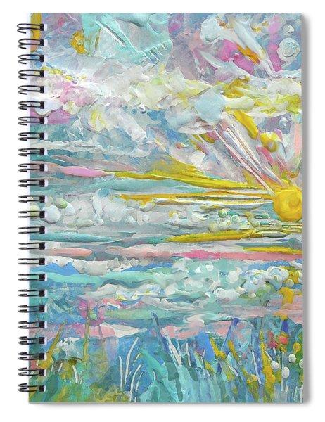 Encaustic Ocean Sunrise Spiral Notebook