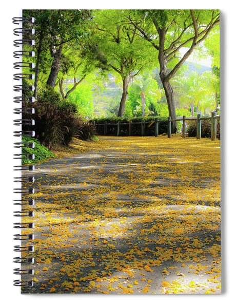 Spiral Notebook featuring the photograph Enchanted Path by Alison Frank