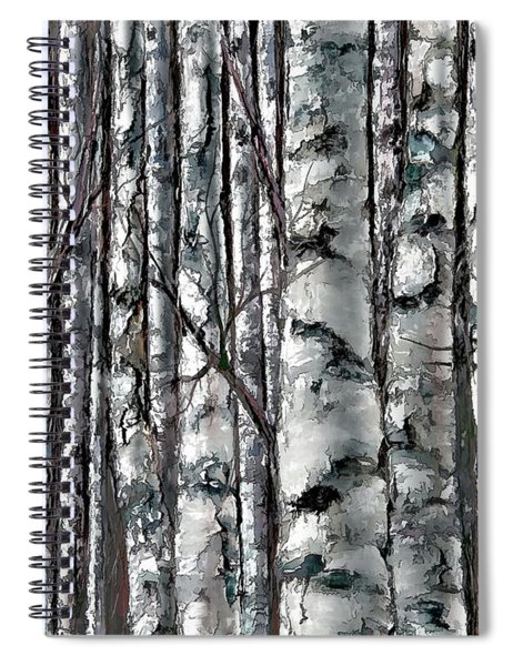 Enchanted Forest -black And White Spiral Notebook