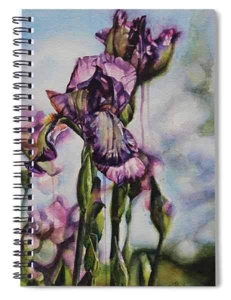 Enchanted Iris Garden Spiral Notebook