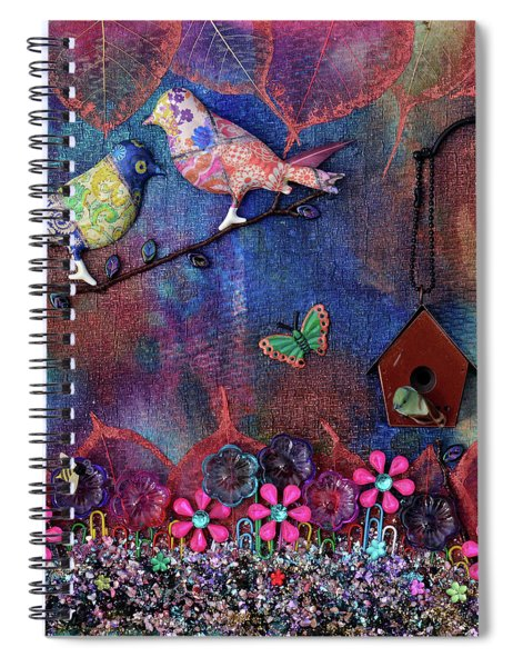 Enchanted Patchwork Spiral Notebook