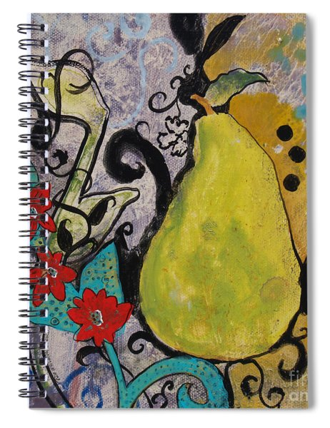 Enchanted Pear Spiral Notebook