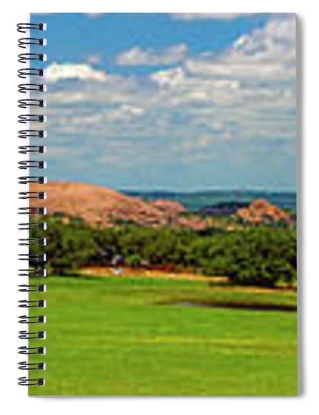 Enchanted Rock And Texas Hill Country Ranch Panorama IIi Spiral Notebook