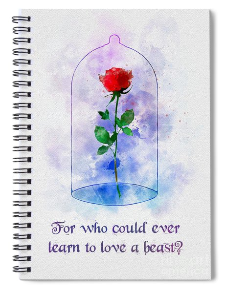 Enchanted Rose Quote Spiral Notebook