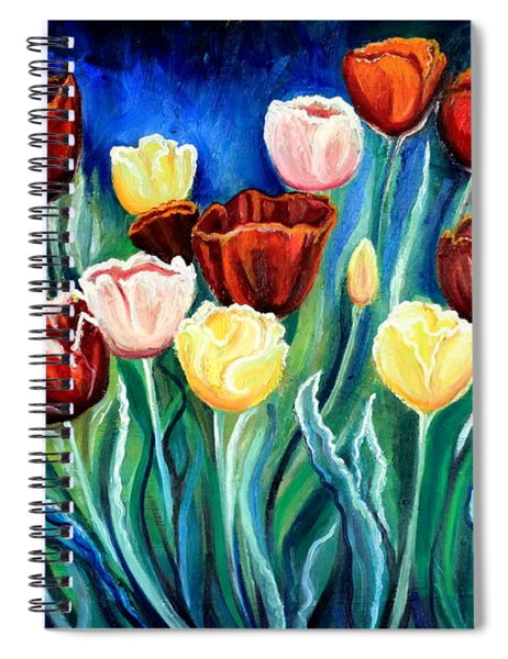 Enchanted Tulips Spiral Notebook