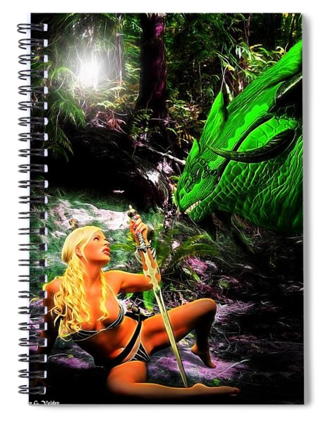 Encounter With A Dragon Spiral Notebook