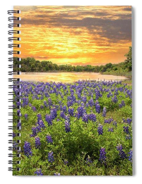 End Of A Bluebonnet Day Spiral Notebook