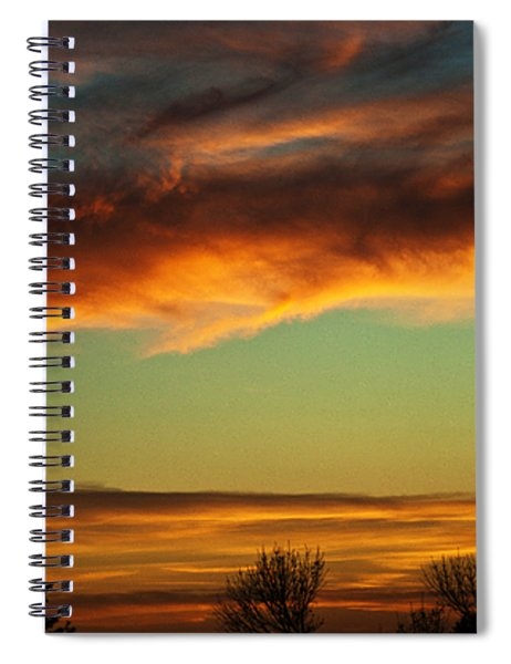 Spiral Notebook featuring the photograph End Of Day by Edward Peterson