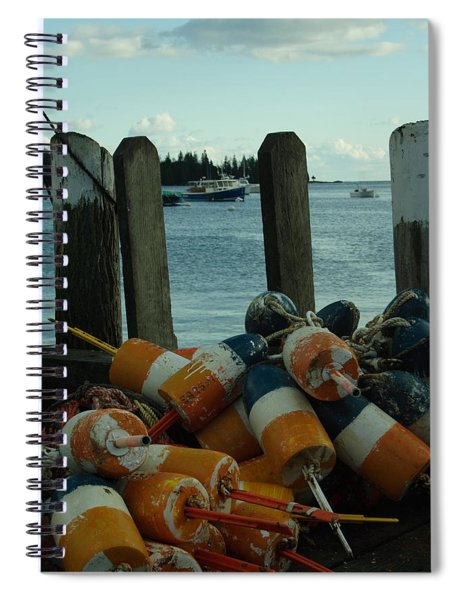 End Of Season At Owls Head Spiral Notebook