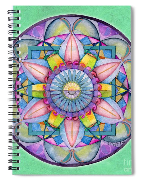 End Of Sorrow Mandala Spiral Notebook