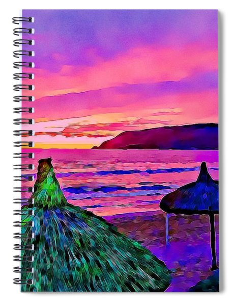 End Of The Beach Day In Mazatlan Spiral Notebook