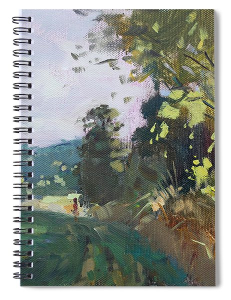 End Of The Day In The Farm  Spiral Notebook