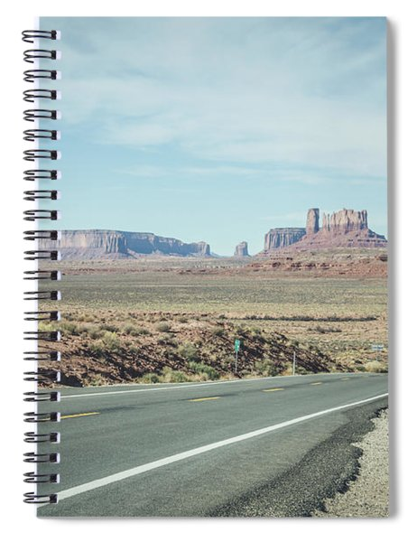 Endless Roads In Monument Valley Spiral Notebook
