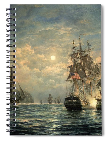 Engagement Between The 'bonhomme Richard' And The ' Serapis' Off Flamborough Head Spiral Notebook