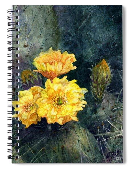 Engelmann Prickly Pear Cactus Spiral Notebook